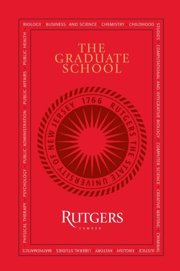 THE GRADUATE SCHOOL - Rutgers University-Camden - Rutgers ...