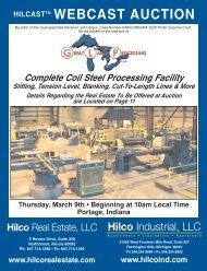 webcast auction hilcasttm - Hilco Industrial