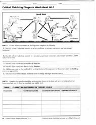critical thinking diagram worksheet 46-1 answer