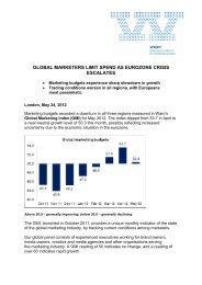 Global marketers limit spend as eurozone crisis escalates - Warc