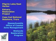 Pilgrim Lake/East Harbor Estuary Restoration Project ... - Town of Hull