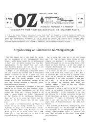 Organisering af Sommerens Kortbølgearbejde. - Søg i OZ
