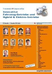 Innovative Fahrzeug-Getriebe und Hybrid & Elektro-Antriebe