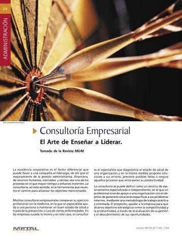 Consultoría Empresarial - Revista Metal Actual
