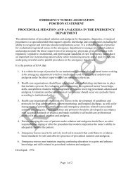 Procedural Sedation - Emergency Nurses Association