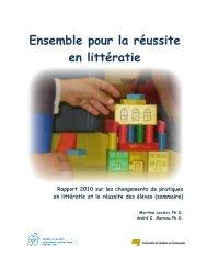 Ensemble pour la réussite en littératie. Rapport 2010 sur les ...