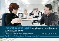 Integrationsstrategien Möglichkeiten und Grenzen - Bundeskongress ...
