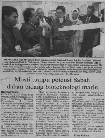 Barnard Yaang - UMS - Universiti Malaysia Sabah
