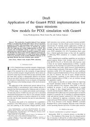 Draft Application of the Geant4 PIXE implementation for ... - MPG HLL