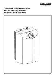 Instrukcja obsługi i montażu pojemnościowych ogrzewaczy wody SH