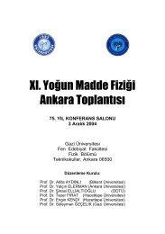 11. Yoğun Madde Fiziği - Ankara Toplantısı - Department of Physics