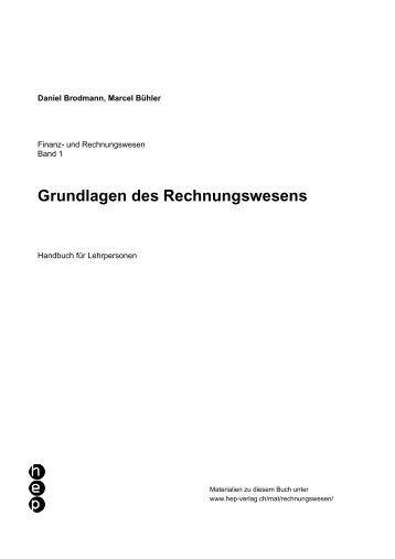 Grundlagen des Rechnungswesens - hep.info
