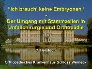 C. Hendrich Stammzellen Huefte Muenchen - Septische Chirurgie