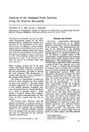 Analyses of the Amalgam-Tooth Interface Using the Electron ...