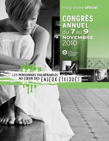 Programme officiel - Ordre des infirmières et des infirmiers du Québec