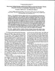 Occurrence, Habitat Selection, and Movement ... - Species at Risk