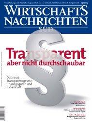 Ausgabe 04/2013 Wirtschaftsnachrichten Süd