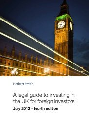 A legal guide to investing in the UK for foreign investors – July 2012