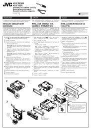 KS-FX430R KS-F330R Handleiding voor installatie/aansluiting ... - Jvc