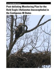 Post-delisting Monitoring Plan for the Bald Eagle May 2010