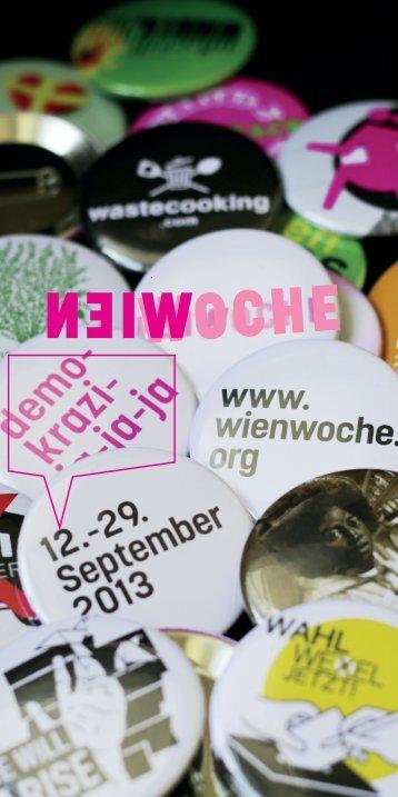 WIENWOCHE Programmheft 2013