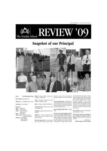 15th April 2009 - The Scindia School