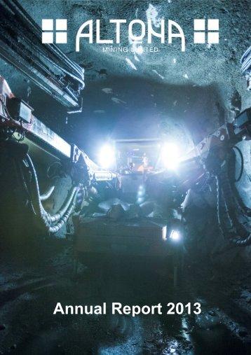 Annual Report 2013 - Altona Mining