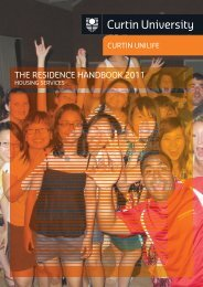 The Residence Handbook 2011 - Unilife - Curtin University