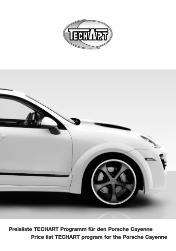 Price list TECHART program for the Porsche Cayenne ... - Tuning