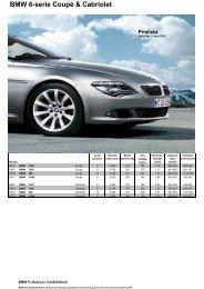 Ladda ner Den aktuella prislistan för BMW 6-serie (PDF, 476 kB).