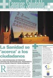 La Sanidad se 'acerca' a los ciudadanos - Gobierno de Canarias
