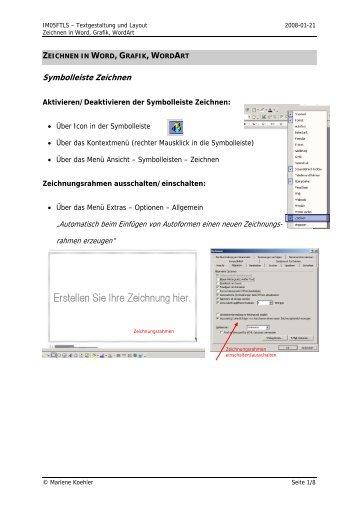 Symbolleiste Zeichnen - Dirnweber.at