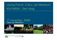 Lezing Prof.dr. C.M.J. van Woerkum KIVI NIRIA - Den Haag 17 ...