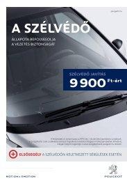 A SZÉLVÉDŐ - Peugeot