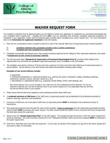 Waiver Request Form. Employee-Vacation-Request-Form Sample