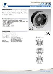 www.fluidtechnik.eu typ: GB 019 Vlastnosti a použití: K montáži mezi ...