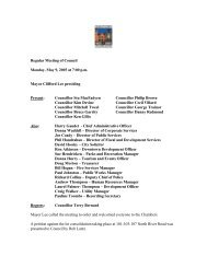 Regular Meeting, May 9th - City of Charlottetown