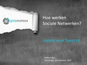 Hoe werken Sociale Netwerken? - Inspectieloket
