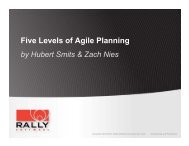 Five Levels Of Agile Planning Presentation - Rally Software
