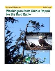 WDFW Washington State Status Report for the Bald Eagle