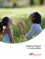 2009 Sustainability Report - Ingersoll Rand