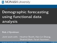 Demographic forecasting using functional data analysis