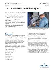 CSI 2140 Machinery Health Analyzer - Emerson Process Management