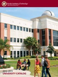 2012–2013 UNIVERSITY CATALOG - Florida Institute of Technology
