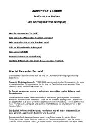 Alexander-Technik - Kulturamt der Stadt Fulda