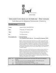 Defined Contribution Schemes – Key Issues - Irish Association of ...