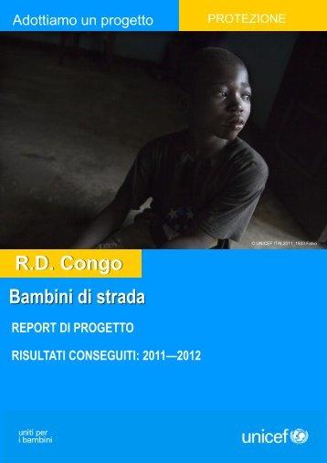 Bambini di strada R.D. Congo - Unicef