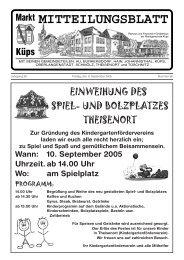 Ausgabe Nr. 36 / 2005 - Markt Küps