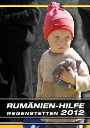 PC-Konto 40-361134-8 - Rumänien-Hilfe Wegenstetten