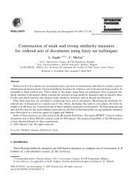 Construction of weak and strong similarity measures for ordered sets ...